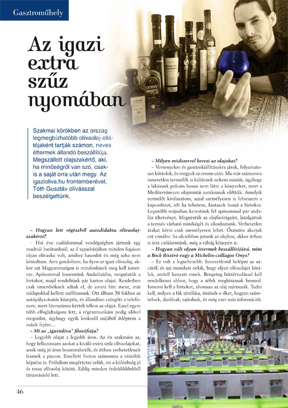 Vendéglátás Magazin 1. oldal