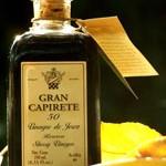 Gran Capirete 50 D.O.P. Ötvenéves, eredetvédett, érlelt sherryecet-különlegesség, solera rendszerű tölgyfahordós érleléssel. Erős, karakteres, komplex íz vaníliás, aszalt gyümölcsös és tölgyfahordós jegyekkel. 250 ml díszüveg 2.800.-