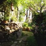 A pomázi ház kertje.