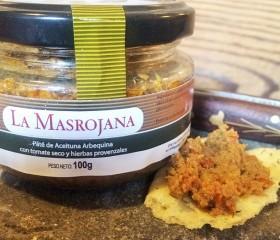 Paté (olajbogyókrém) aszalt paradicsomos, provence-i fűszerekkel; La Masrojana, 100 g üveg