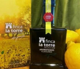 Finca la Torre citromos olívaolaj 250 ml díszüveg díszdobozban