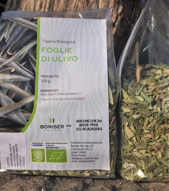 BIO olajfalevél-tea, NATÚR, 100 g - igazioliva